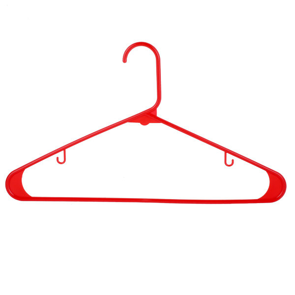 Light Shirt Hanger 42CM 6 Pcs Set -Red