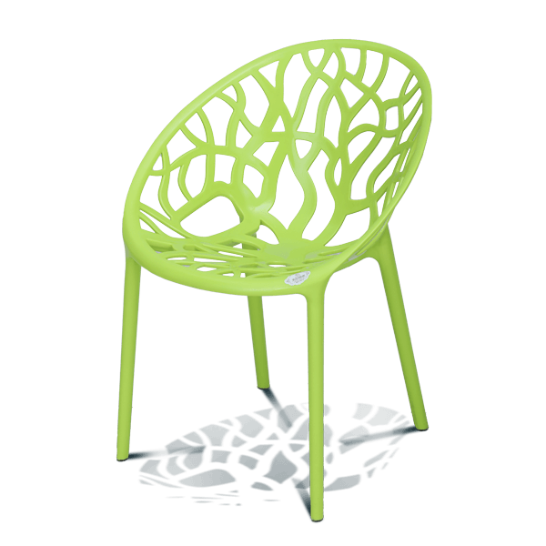 Stylee Ventral Arm Chair-Lime Green