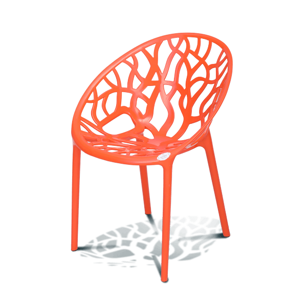 Stylee Ventral Arm Chair-Orange