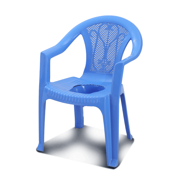 Arm Commode Chair W/O Lid -SM Blue