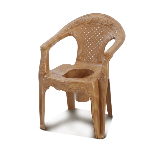 Deluxe Commode Chair W/O Lid -Sandal Wood