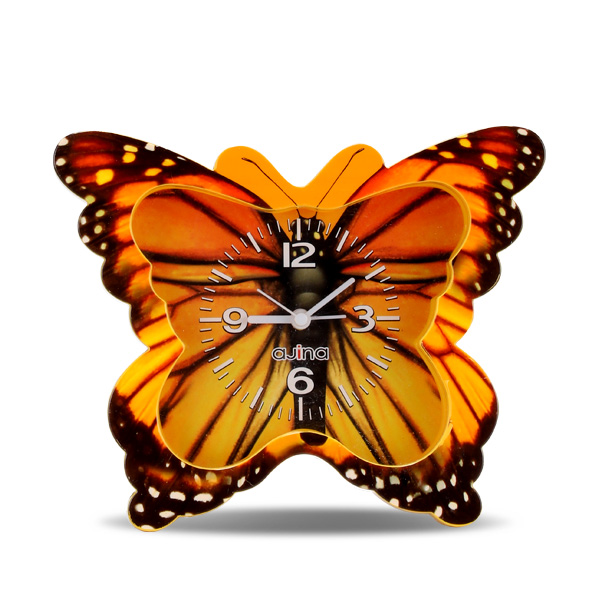 Butterfly Table Clock -Yellow
