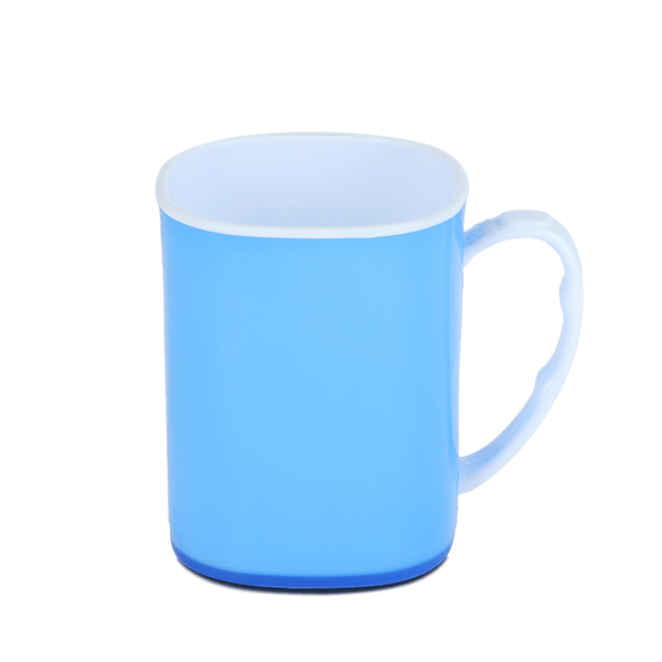 Royal Mug 400 ML - White & Trans Blue
