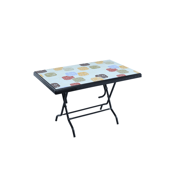 Deco Table 4 Seat S/L Print Park - Black