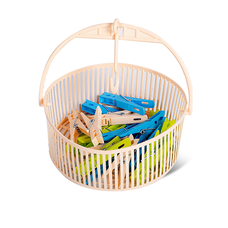 Clip Basket (Single) With 18 Pcs Clip-Assorted