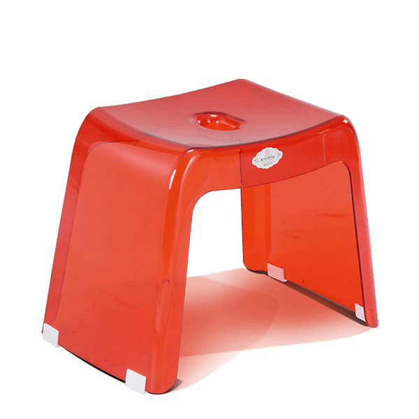 Transpa Deluxe Stool  Trans Red