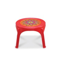 Caino Center Table RO Printed Crown-Red